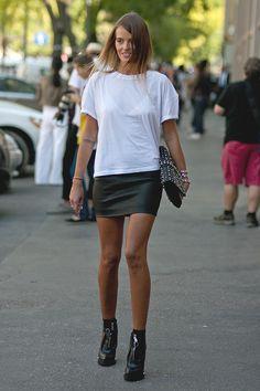 Lovely Carlotta Oddi during Milan Fashion Week S/S 2014