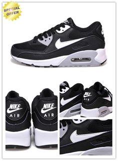 official photos ddf03 17c2a Womens Black White Gray Nike Air Max 90. Natalie · Cheap Fashion Adidas Running  Shoes