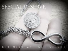 Stainless Steel chainmaille with infinity.  Handmade.  Custom request.  High quality and GORGEOUS!!