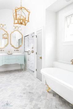 Brass Bathroom Mirror (1)