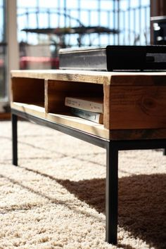 Reclaimed Wood Custom Coffee Table $375 - Roselle http://furnishly.com/reclaimed-wood-custom-coffee-table.html