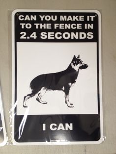 scary beware of dog signs | ... - metal fence sign - Funny - German Shepherd - Beware of Dog sign
