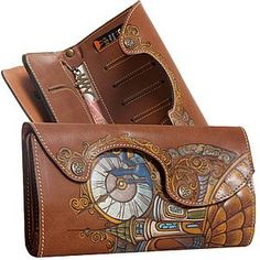 Handmade Wallets, Painting Leather, Leather Projects, Long Wallet, Leather Craft, Leather Wallet, Shoulder Bag, Mini, Bags