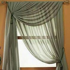 44 Modern Home Curtain Design Ideas - gardinen - Vorhang Curtain Styles, Curtain Designs, Curtain Scarf Ideas, Scarf Valance, Rideaux Design, Living Room Decor, Bedroom Decor, Home Curtains, Sheer Curtains Bedroom