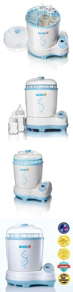 WABI BABY Electric Baby Bottle Steam Sterilizer and Dryer New Born, Baby, Child, Kid, Infant, The WABI BABY sterilizer is the first of its kind: a 3-in-1 baby product sterilizer that combines steam sterilization, hot air drying, and negative ion deodorizing to give you and your baby the absolu..., #Baby, #Accessories