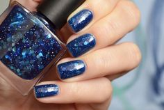 "Бьюти-блог по-ленински!: Franken polish ""Blue Hexa-Glitter"""