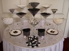 Black and white candy station