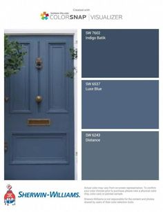 The Best Sherwin Williams Gray Paint Colors - West Magnolia Charm With so many Sherwin Williams gray paint colors, how do you choose one? I went ahead and found the best of the best to share with you. Exterior Door Colors, Front Door Paint Colors, Painted Front Doors, Grey Paint Colors, House Paint Exterior, Interior Paint Colors, Paint Colors For Home, Blue Front Doors, Blue Doors