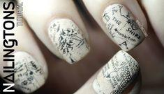 """Képtalálat a következőre: """"book inspired nail art"""""""