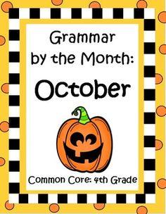 Thematic grammar practice! Includes 4th grade common core language standards in a fun way! $