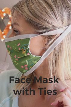 Learn to sew a face mask with ties, a fitted nose and filter pocket. Learn to sew a face mask with ties, a fitted nose and filter pocket. Easy Face Masks, Diy Face Mask, Homemade Face Masks, Sewing Projects For Beginners, Sewing Tutorials, Sewing Tips, Sewing Hacks, Quilting Tutorials, Simple Sewing Projects