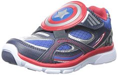 Stride Rite Captain America AC Lightup Sneaker ToddlerLittle Kid Blue 8 M US Toddler -- Details can be found by clicking on the image.