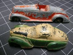 Tootsie Toy Sun Rubber Art Deco Cars Automobiles Collectable Steel and Hard Rubber Vehicles: $40