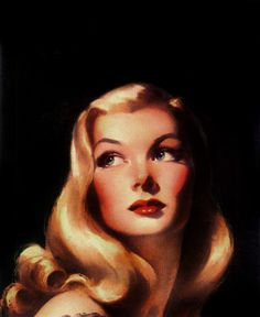Veronica Lake by Bradshaw Crandell for Cosmopolitan Pinup Art, Retro Art, Vintage Art, Vintage Pins, Retro Illustration, Illustrations, Wow Art, Arte Pop, Hollywood Glamour