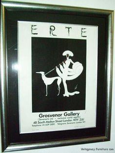 6026: Vintage ERTE Print Hand Signed in Pencil Dated 1982 Black & White Framed under Glass Beautiful Fine Art at Vintageway Furniture by VintagewayFurniture on Etsy https://www.etsy.com/listing/184849493/6026-vintage-erte-print-hand-signed-in