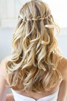 acconciature capelli con treccia e sciolti - Cerca con Google