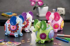 Mealheiro Elefante 4CSt 19x13xA16,5| Artigos em Cerâmica | Utilidades Domésticas |Mealheiros | Marmair  http://www.marmair.pt/detalhe.php?p=5070#   € 9,95