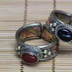 anel Tibet ágata fogo