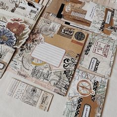 Handmade Scrapbook, Glue Book, Mix Media, Moleskine, Bujo, Journals, Envelope, Stationery, Notebook