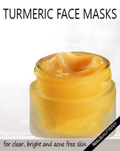 5-diy-turmeric-face-masks for clean, clear and acne free skin