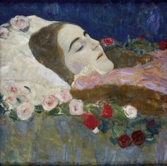 Ria Munck on her Deathbed by Gustave Klimt (1912)