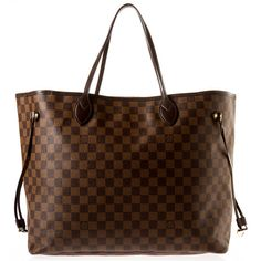Pre-owned Louis Vuitton Tote found on Polyvore featuring bags, handbags, tote bags, purses, bolsas, louis vuitton, apparel & accessories, tote handbags, wallets & cases and brown handbags