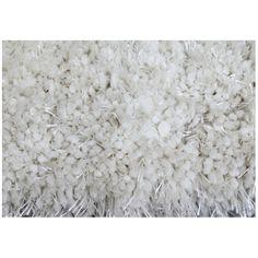 Shag Area Rug - 4' x 6' - Polyester - White