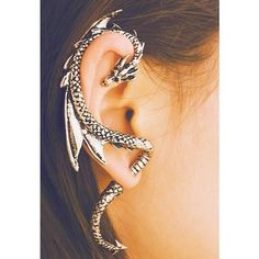 Girl With The Awesome Dragon Earring [Jewelry] (£30) ❤ liked on Polyvore featuring jewelry, earrings, accessories, piercings, pictures, polka dot earrings, earring jewelry, dot jewelry, dot earrings and polka dot jewelry
