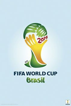 Official Licensed FIFA World Cup 2014 Brazil Trophy Logo Poster.