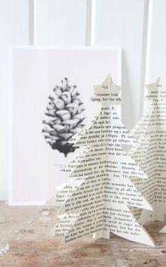 pinecone art + book Christmas trees #adornefortheholidays
