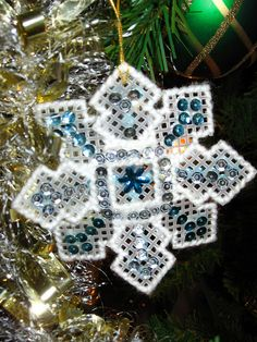 Snowflakes with sequins