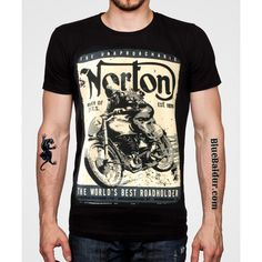 Norton T-shirt in black by Oil Leak