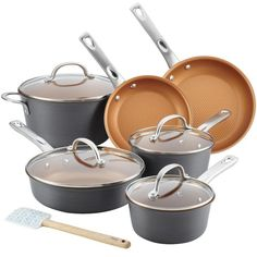 Ayesha Curry aluminum cookware Cast Iron Cookware, Cookware Set, Ayesha Curry, Glass And Aluminium, Heating Element, Grey Bedding, Fun Cooking, Food Preparation, No Cook Meals