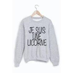 Sweat-Shirt Je Suis Une Licorne Ref 802