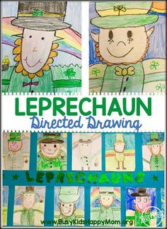 how to draw a cute leprechaun