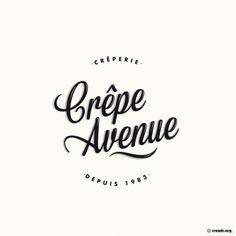 crepe avenue Italian Restaurant Logos, Restaurant Logo Design, Restaurant Names, Italian Logo, Logo Patisserie, Patisserie Design, Typo Logo Design, Food Graphic Design, Logo Inspiration