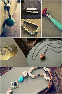 Lovely Jewelry Craetions from my Jewelry shop, warm rich colors, gemstones silver and brass ♥ #jewelry #necklace #earrings #boho #gypsy