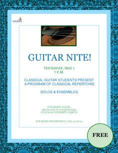 Classical Guitar Students' Recital