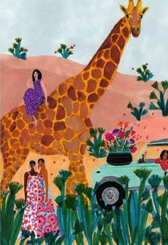 Roeqiya Fris - 9 illustratrices de talent à suivre – Au coin des rues Forest Illustration, Motif Floral, Pictures To Paint, Pop Art, Oeuvre D'art, Collage Art, Art Inspo, Painting & Drawing, Art Drawings