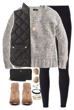 #winter #outfits / quilted vest + ray ban sunglasses