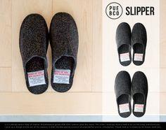 SLIPPER/スリッパPUEBCO/プエブコフェルトアクリルBlackブラックグレー【あす楽対応_東海】