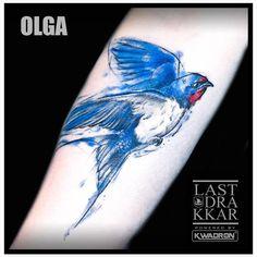 Tattoo done  by Olga @black_sun_tattoo with @KWADRON needles #swallow #swallowtattoo #bird #birdtattoo  #watercolour #watercolorstattoo #watercolourtattoo…
