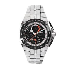 Seiko Men's Sportura Stainless Steel Black Chronograph Dial Watch This watch from Seiko offers an all stainless steel case and bracelet. Sport Watches, Watches For Men, Seiko Sportura, Cool Typography, Seiko Men, All Stainless Steel, Seiko Watches, Casio Watch, Chronograph