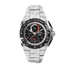 Seiko Men's SPC047 Sportura Stainless Steel Black Chronograph Dial Watch seiko-sportura.com