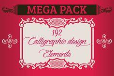 Calligraphic Design Elements by Arys Design on @creativemarket