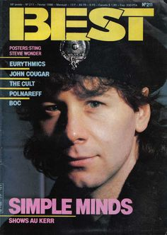 Featured in the Ultimate Eurythmics Magazine archives, this is the Best Magazine published on featuring Eurythmics . Cool Magazine, Magazine Covers, Jim Kerr, Annie Lennox, Simple Minds, Stevie Wonder, France, Indie Music, Cool Posters