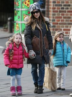 Sarah Jessica Parker and husband Matthew Broderick went on a family stroll with their twins Marion Loretta and Tabitha Hodge, 5, in the West Village neighborhood in New York City on December 14. Description from starkiddo.com. I searched for this on bing.com/images