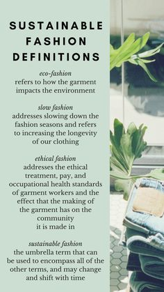 Sustainable Fashion Definitions - The Well Essentials