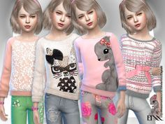 Jodie Sweater - The Sims 4 Catalog My Sims, Sims Cc, Maxis, The Sims 4 Bebes, Sims 4 Cc Kids Clothing, Sims 4 Children, Sims 4 Cc Shoes, Sims4 Clothes, Sims 4 Cc Skin