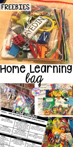 FREE learning boards and how to make Take home learning bags to keep students learning through PLAY at home. Made for preschool, pre-k, and kindergarten. Homeschool Kindergarten, Preschool At Home, Preschool Learning, Kindergarten Classroom, Student Learning, Learning Resources, Teaching Art, Homeschooling Resources, Curriculum